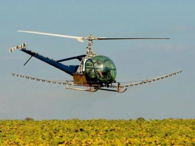 Десикация подсолнечника агродронами вертолетами беспилотниками дельтапланами