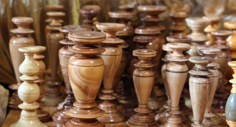 Деревянный подсвечник, подсвечник для церковной свечи, необычный