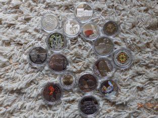 Продаю юбилейные монеты Украины, обиходные монеты и марки стран Европы и мира.