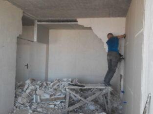 Демонтажные работы. Демонтаж квартиры, стен, перегородок, паркета, плитки, штукатурки, гип