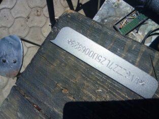Услуги по восстановлению дублирущих табличек, наклеек, железа с ВИН