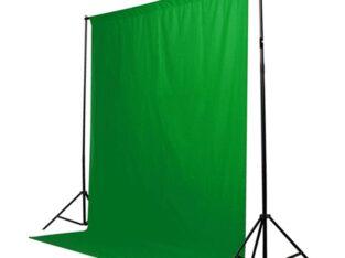 Зеленый фон Хромакей, chroma key, гринскрин, green screen. 1,5*3м