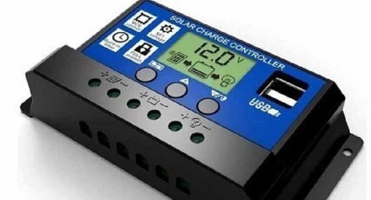 10A PWM (ШИМ) контроллер заряда солнечной панели 12/24В с ЖК-дисплеем, 2-мя USB портами