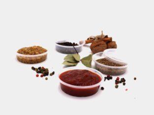 Контейнер, емкость, соусник, пробник, упаковка 100мл для икры, меда