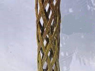 плетеная колонна из ивы