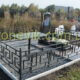 Оградка на могилку с откидным столиком.