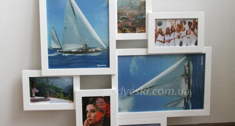 Фоторамки, деревяные мультирамки, рамки для фото в свой дом или на подарок друзьям со скла