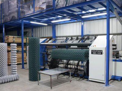 Самый быстрый автомат для плетения сетки Рабица