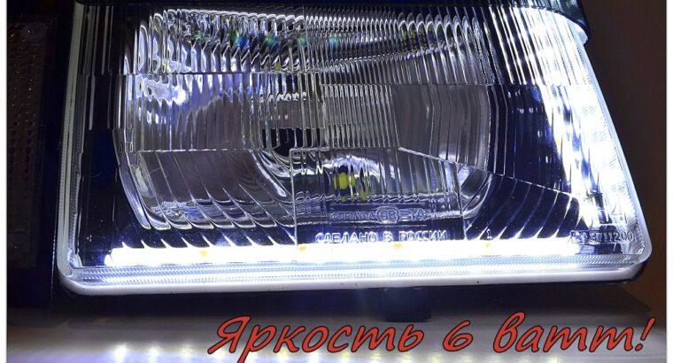 фары москвич 2141 АЗЛК с ходовыми огнями