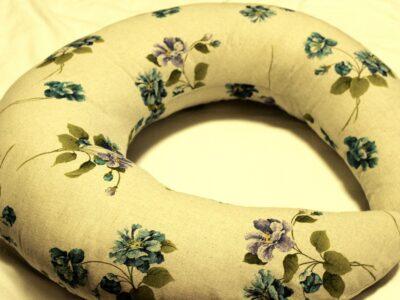 Подушка для кормления Лен васильки