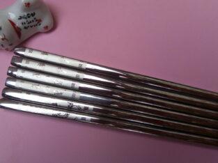 Палочки для еды из нержавеющей стали, с лазерной гравировкой