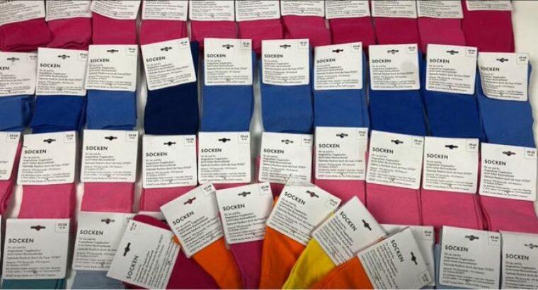 Лот 10-0716, Шкарпетки кольорові, вага 2,4 кг