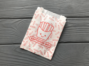 Упаковка для картофеля фри большая (150-200г) 220Ф