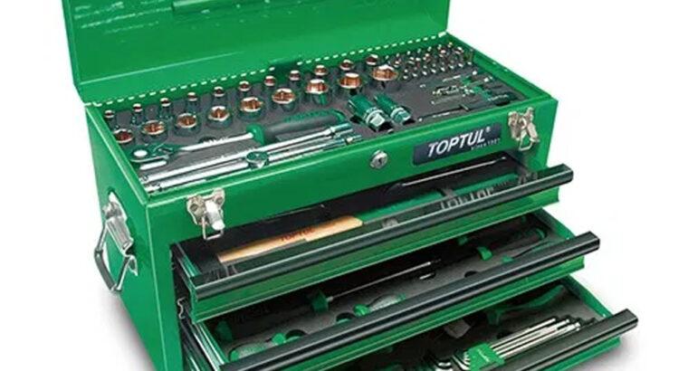 Ящик с инструментом 3 секции 227 ед. TOPTUL