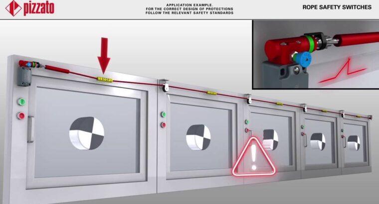 Тросовые выключатели для аварийной остановки, со сбросом
