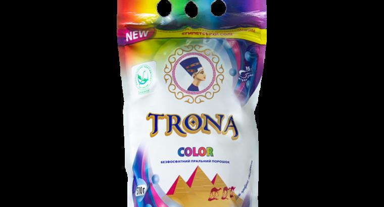 Безфосфатний пральний порошок для кольорових речей TRONA Color 0,5 кг
