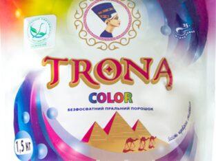 Безфосфатний пральний порошок для кольорових речей TRONA Color 1 кг