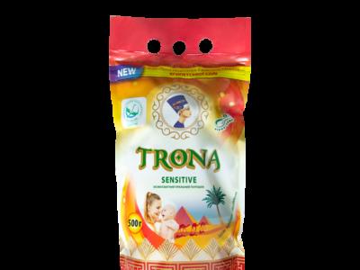 Дитячий безфосфатний пральний порошок TRONA Sensitive 0,5 кг