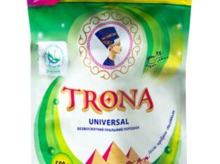 Безфосфатний пральний порошок з відбілюючим ефектом TRONA 1 кг