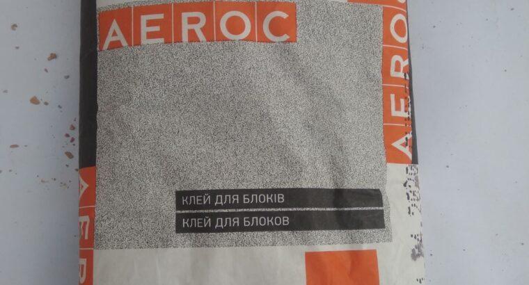 Клей для кладки газобетона Аерок (AEROC) и KHSM (ХСМ)