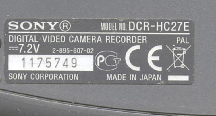Видеокамера SONY DSR HC 27E