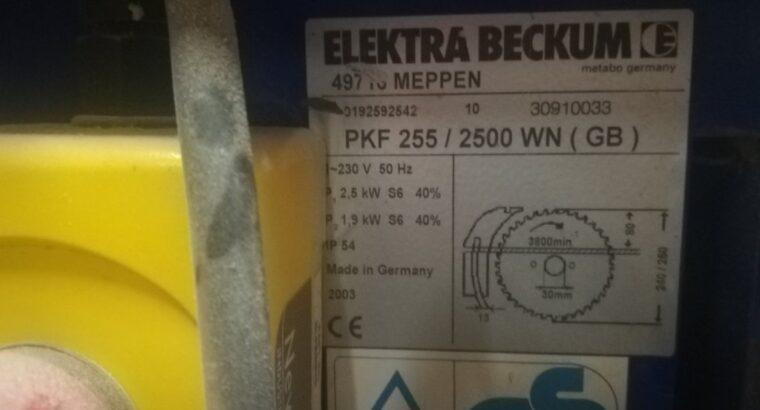 Форматно-раскроечный станок Elektra Beckum PKF 255 (Metabo, Германия)
