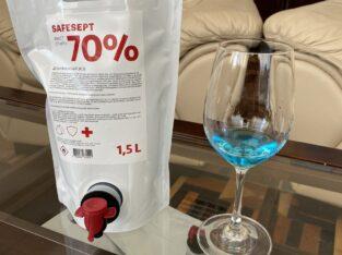 Производитель предлагает антисептик под ТМ «Safesept»
