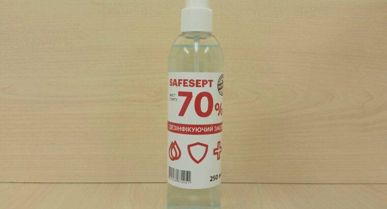 Антисептик для рук, антисептик для обработки рук SAFESEPT 250 мл