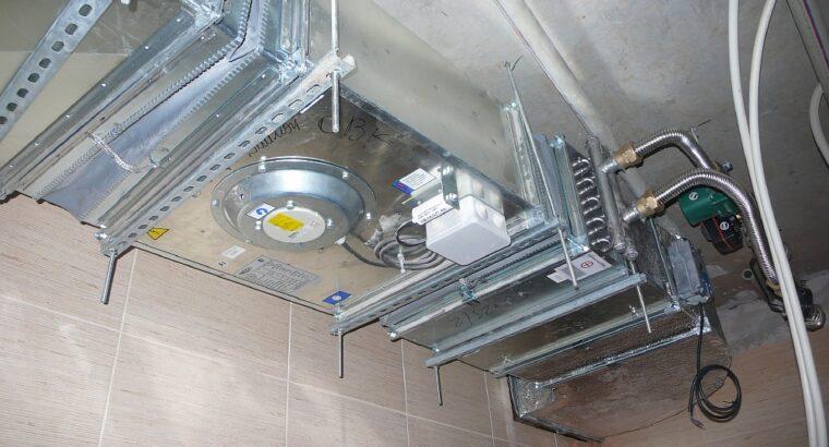 Установка климатической системы вентиляции и кондиционирования