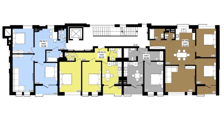 2х кімнатна новобудова від забудовника на Мінана