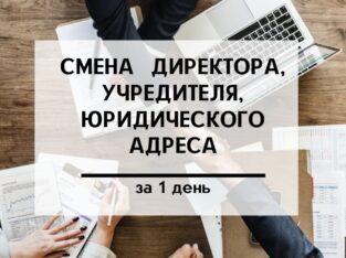 Внесение изменений в учредительные документы за 1 день.