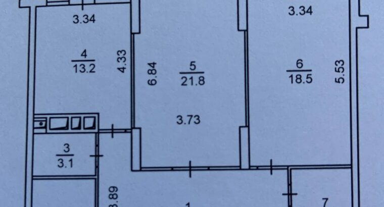 Аренда 2к квартиры 87м² ЖК Воскресенский.