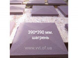 Крышки бетонные на забор