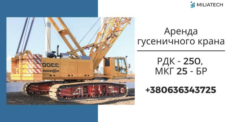 Кран гусеничный РДК 250 аренда / Гусеничный кран аренда