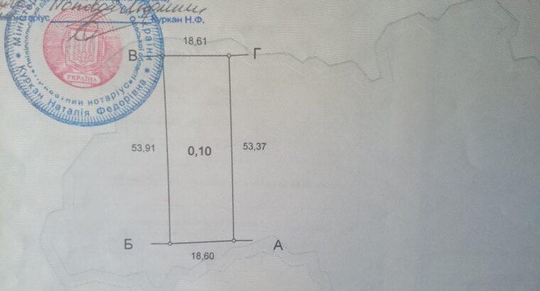 Отличный участок 10 соток Молодежное, рядом Черноморск.