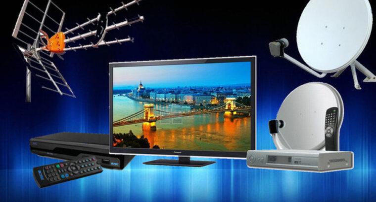 Телевидение ,Т2 , спутниковое ТВ ,приставки ТВ уст. настройка.