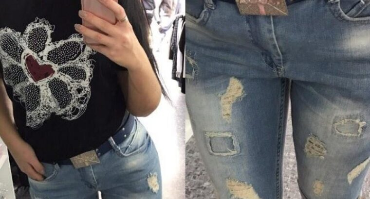 Женские стильные джинсы-бриджи и джинсы WOOX в больших размерах