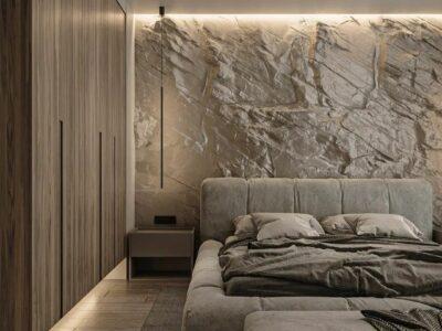 фактуры камня, скала в интерьере, арт бетон, имитация текстур дизайн